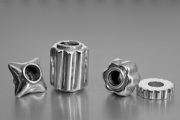 photo of silver beads