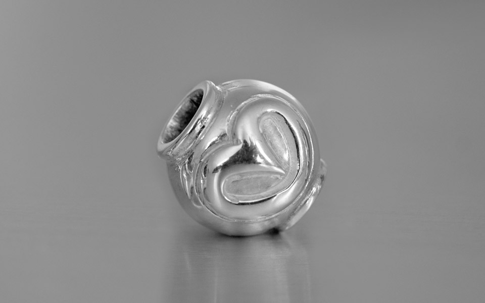 Narradores contemporary and classic silver owl bead