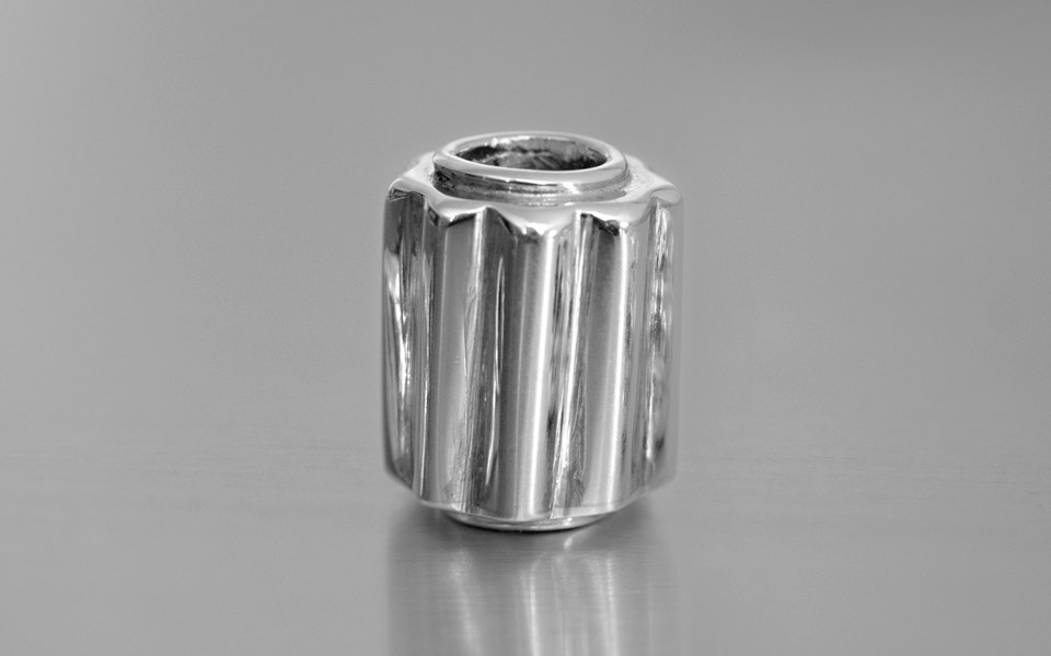 Narradores silver stem bead