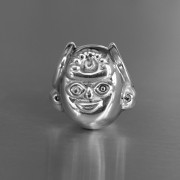 photo of silver priest bead