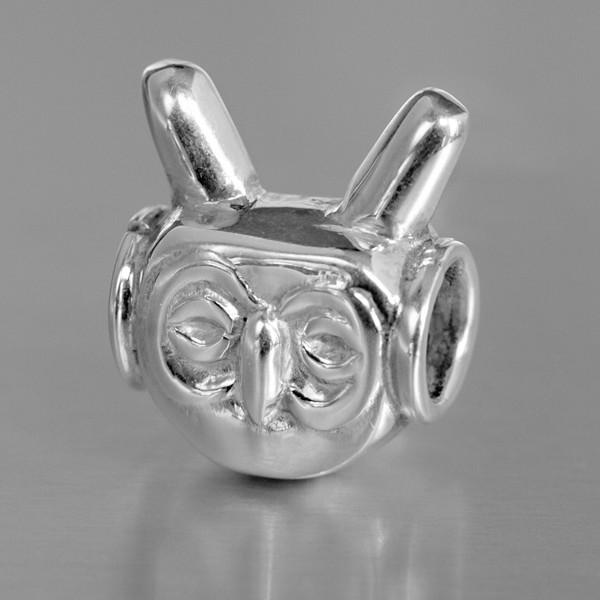 Narradores silver owl bead