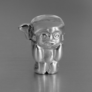 photo of silver warrior bead