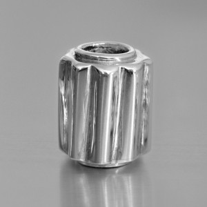 photo of a silver stem bead