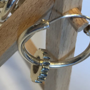 photo of silver hoop earrings