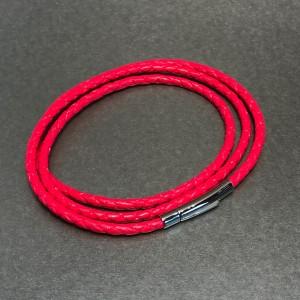 Neon pink triple wrap bracelet